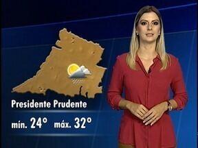 Débora Andreatto traz a previsão do tempo para a região de Presidente Prudente - Confira como ficam as temperaturas neste sábado (20).