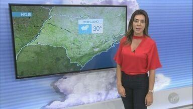 Confira a previsão do tempo para este fim de semana na região de Campinas - Temperaturas continuam altas e há chances de pancadas de chuva ao longo do dia em algumas cidades.
