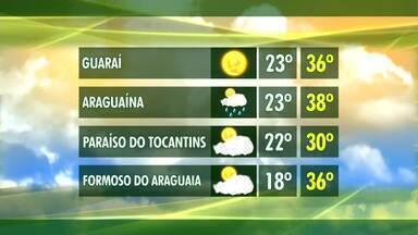 Veja a previsão do tempo para cidades do interior do Tocantins - Veja a previsão do tempo para cidades do interior do Tocantins