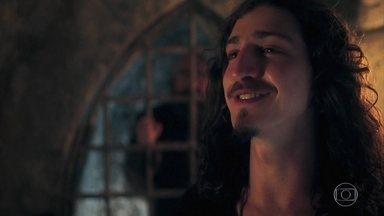 Rodolfo prende Julião - Orlando diz ao príncipe que descobriu um motivo para prender Julião