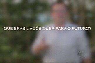 """""""O Brasil que eu quero"""" - Veja como enviar o seu vídeo - Em ano de eleições, a Rede Globo quer ouvir o que os brasileiros esperam para o futuro."""