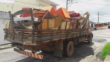 Mutirão em Varginha coleta lixo e quase 500 pneus - Mutirão em Varginha coleta lixo e quase 500 pneus