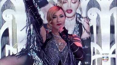 O Encontro atende pedido e leva a Madonna para o programa - Rinaldo faz performance inspirado na rainha do pop