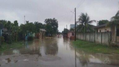 Chuva causa transtornos em Nova Olinda do Norte - Ruas ficaram alagadas