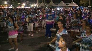 Novo Império faz ensaio técnico para o carnaval de Vitória - Ensaio aconteceu nesta quinta-feira (25), no Sambão do Povo.
