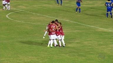 Sergipe goleia o Boca Júnior por 3 a 0 - Colorados mantêm os 100% de aproveitamento no Sergipão.