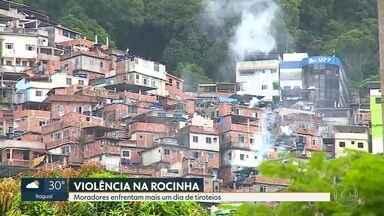 Tiroteios na Rocinha continuam, pelo segundo dia seguido - Batalhão de Choque faz operação depois da morte de soldado.