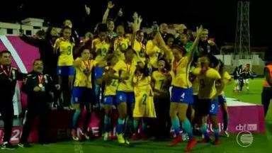 Seleção Brasileira é campeã sulamericana com gol da piauiense Valéria na final - Seleção Brasileira Sub-20 vence Paraguai por 8x1 e a piauiense Valéria marcou na final