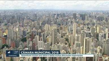 A Câmara Municipal de São Paulo começou hoje o ano legislativo. - Serão muitas discussões importantes, pela frente votações como a reforma da previdência e a lei de zoneamento.