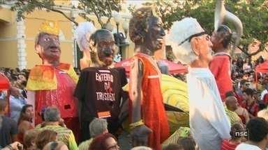 Berbigão do Boca abre carnaval de Florianópolis; segundo PM, 30 mil foliões compareceram - Berbigão do Boca abre carnaval de Florianópolis; segundo PM, 30 mil foliões compareceram
