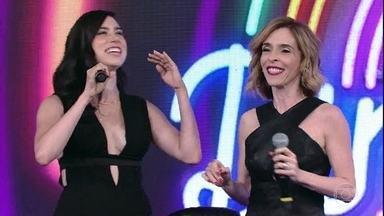 Deborah Evelyn e Olivia Torres acertam e Rouge sobe ao palco - Dupla de 'Tempo de Amar' acerta canção famosa do grupo