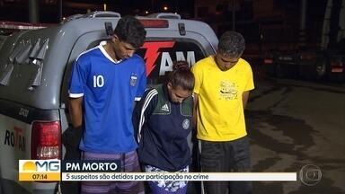 Três pessoas são presas e dois adolescentes, apreendidos, suspeitos de matar um soldado - O crime aconteceu na madrugada de sábado, em Contagem, na Região Metropolitana de Belo Horizonte.