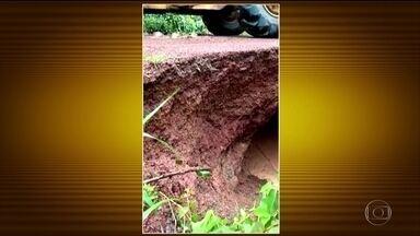 Cidades do Tocantins registram chuva acima da média em fevereiro - Algumas cidades já acumularam 400 mm em apenas 5 dias. Tem previsão de mais chuva também em Minas Gerais e no Espírito Santo. Já no Rio Grande do Sul o tempo fica seco.