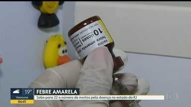 Sobe para 22 o número de mortos por febre amarela no RJ - Último caso foi registrado em Sumidouro, na Região Serrana.