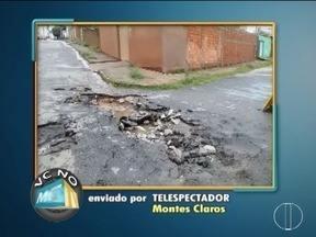 VC no MG: Moradores de Montes Claros e Curvelo fazem reclamacões - Entre as reinvidicacões está a pavimentação de ruas.