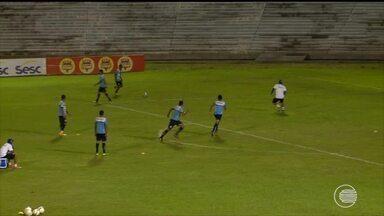 Parnahyba se prepara para jogo contra Coritiba - Parnahyba se prepara para jogo contra Coritiba