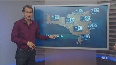 Veja como ficará o tempo em todas as regiões de SC nesta quinta-feira (8) - Veja como ficará o tempo em todas as regiões de SC nesta quinta-feira (8)