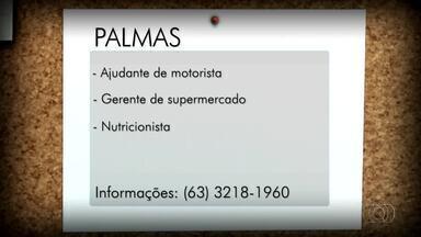 Confira as vagas para Palmas, Porto Nacional e Gurupi - Confira as vagas para Palmas, Porto Nacional e Gurupi