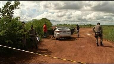 Empresário é encontrado morto dentro de carro em Luziânia - Vítima, de 36 anos, foi atingida por vários tiros.