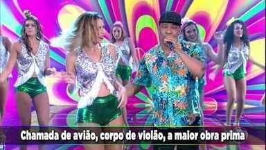 A bandaPsirico canta o sucesso 'Ela é Todo Boa' - O grupo anima o auditório do Domingão
