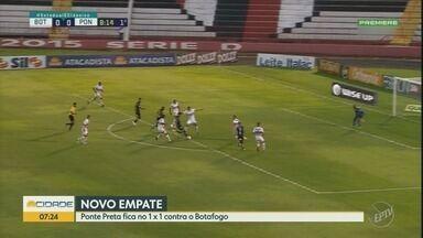 Em Ribeirão Preto, Ponte Preta consegue empate com o Botafogo-SP - Macaca e o Pantera Negra ficaram no 1x1, no jogo de quarta-feira (15).