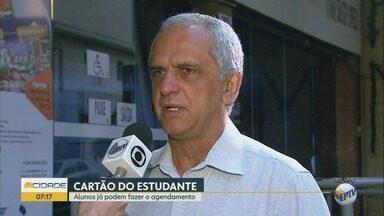 Estudantes devem agendar renovação do cartão de ônibus urbano em Ribeirão Preto - Novo documento será emitido pela Transerp.