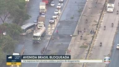 Queda de árvores e bolsões d'água atrapalham trânsito - Bom Dia Rio entrevistou ao vivo secretário municipal de Conservação