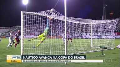 Náutico vence o Fluminense de Feira de Santana e avança na Copa do Brasil - Placar foi de 1x0 para o time alvirrubro. A boa atuação do goleiro Bruno foi o destaque da partida. Time faturou 1,4 milhão com a vitória.