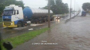 Chuva causa alagamentos em ruas de Marília - Depois de um dia de vários estragos em bairros de Marília, a chuva voltou a atingir a cidade e causou alagamentos nesta quinta-feira.