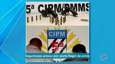Seguranças são presos por porte ilegal de arma em Campo Grande - Eles foram presos em flagrante nesta quinta-feira (15).