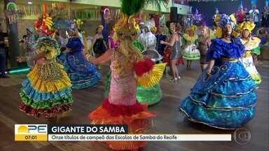 Escola Gigante do Samba é campeã das agremiações do Recife - Esse é o 11º título da escola, oriunda do bairro de Bomba do hemetério.