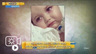 Justiça mantém bloqueio de dinheiro arrecadado em campanha para ajudar bebê em SC - Justiça mantém bloqueio de dinheiro arrecadado em campanha para ajudar bebê em SC