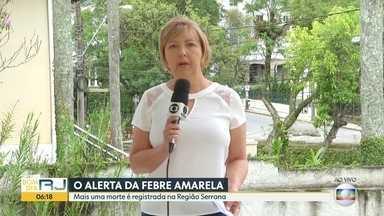 Sobe o número de mortos por febre amarela na Região Serrana - Secretaria estadual de Saúde inicia campanha para evitar a morte de macacos. Aqui no Rio, moradores da Zona Oeste e da Baixada reclamam da falta de vacinas nos postos.