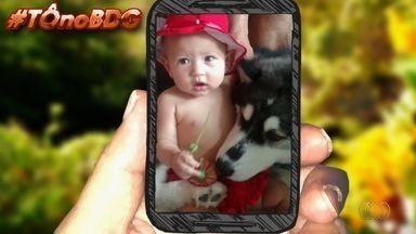 Telespectadores mandam fotos para o 'Tô no BDG' - Imagens são exibidas ao vivo.