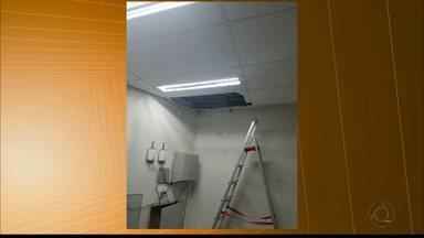 Homens entram em loja pelo teto e roubam R$ 45 mil do cofre em Campina Grande - Roubo foi durante a madrugada.