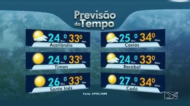 Confira as variações das temperaturas no Maranhão - Previsão para esta quarta-feira (21) é de muita instabilidade em todo o Maranhão