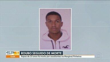 Câmera da CET não gravou morte de jovem na Marginal Pinheiros - Rapaz de 20 anos foi morto por assaltantes ontem à noite em ponto de ônibus.