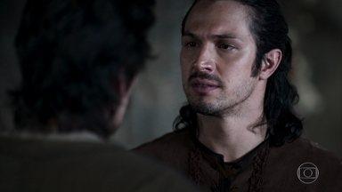 Tiago pede que Afonso impeça o casamento de Amália e Virgílio - Martinho se incomoda ao ouvir comentários maldosos sobre sua filha na feira