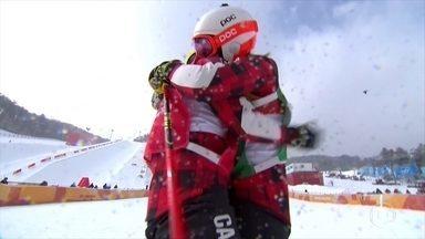 Kelsey Serwa conquista o ouro no esqui cross estilo livre, em PyeongChang - Kelsey Serwa conquista o ouro no esqui cross estilo livre, em PyeongChang