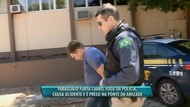 Paraguaio é preso depois de tentar fugir com uma caminhonete roubada - A abordagem de rotina foi na Ponte da Amizade, na manhã de hoje.