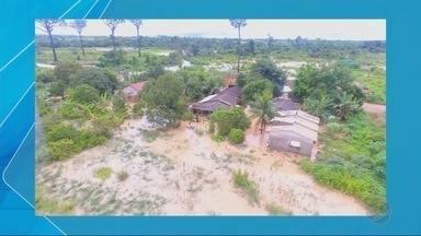 Em Guarantã do Norte moradores começam a consertar estragos causados pela chuva - Em Guarantã do Norte moradores começam a consertar estragos causados pela chuva