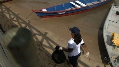 Capitania dos Portos realiza ação de limpeza na Orla Por do Sol - Ação tem o intuito de conscientizar a população sobre a importância da preservação do meio ambiente marinho.