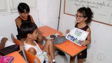 Menina de 7 anos faz campanha para doação de material escolar em Campos, no RJ - Assista a seguir.