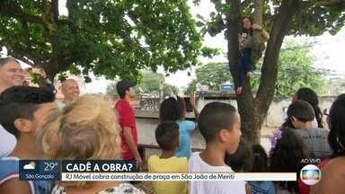 Prefeitura promete e não cumpre início de obras de praça em São João de Meriti - O RJ Móvel acompanha a luta dos moradores. Em dezembro, o secretário de Obras prometeu o início das obras para março, mas agora o prazo é outro.