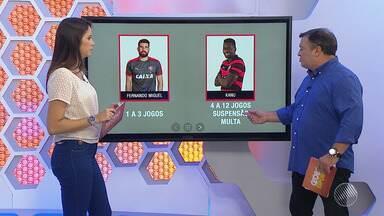 Tribunal de Justiça Desportiva julga envolvidos na confusão do BA-VI nesta terça (27) - Jogadores tanto do Bahia e do Vitória foram acusados.