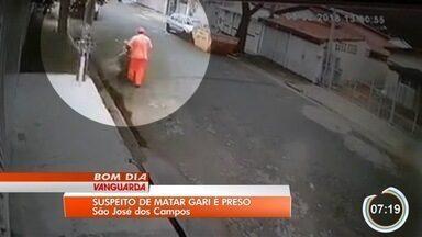 Suspeito de assassinar gari por ciúmes é preso em São José dos Campos - Josenildo dos Santos Santana trabalhava na varrição do Jardim Paulista, no dia 5, quando foi atingido por cinco tiros. Suspeito se apresentou à polícia e negou ser autor do crime.