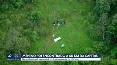 Bombeiros encontraram o corpo do menino que estava desaparecido desde segunda-feira - Matheus Henrique da Silva de 11 anos desapareceu depois de cair num córrego na zona leste da capital.