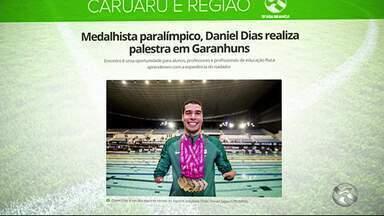 Medalhista paralímpico, Daniel Dias realiza palestra em Garanhuns - Encontro é uma oportunidade para alunos, professores e profissionais de educação física aprenderem com a experiência do nadador