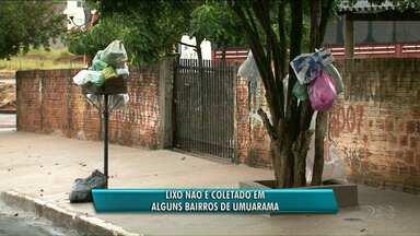 Bairros de Umuarama ficam sem coleta de lixo - Garis da cidade decidiram não fazer mais horas-extras