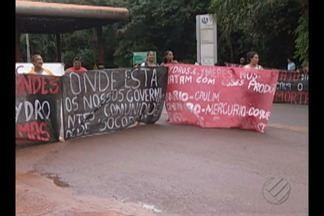 Justiça do Pará embarga uma das bacias de contenção de rejeitos da Hydro em Barcarena - Hoje houve protesto de moradores em frente à refinaria.